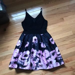 Xscape floral strapped dress